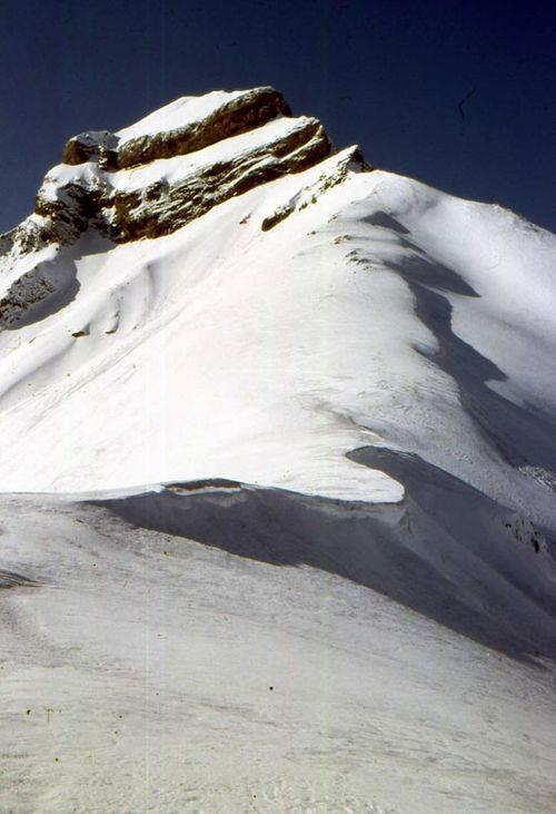 Les falaises du Grand Renaud l'hiver
