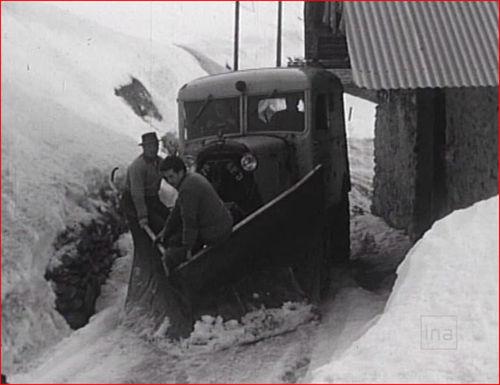 Le chasse neige en 1960