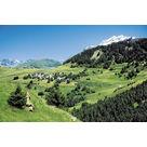 Le village et le Pic Blanc de l'Alpe d'Huez