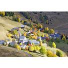 Le village aux couleurs d'automne